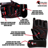 Dark Iron Fitness Leather Gym Gloves