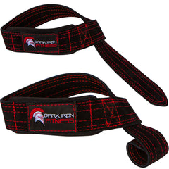 Dark Iron Fitness Leather Suede Lifting Straps