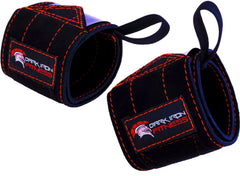 Dark Iron Fitness Leather Suede Wrist Wraps
