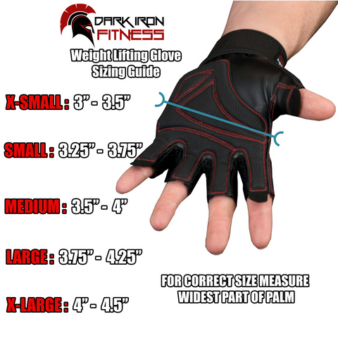 Dark Iron Fitness Leather Gym Gloves Dark Iron Fitness Store