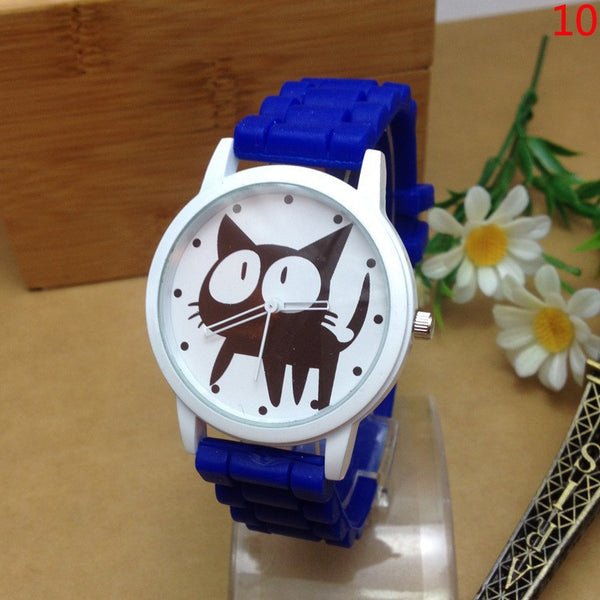 Fashion Cat Cartoon Silicone Watch. FREE WORLDWIDE SHIPPING!