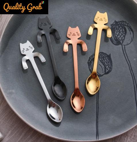 STAINLESS STEEL KAWAII KITTY SPOON