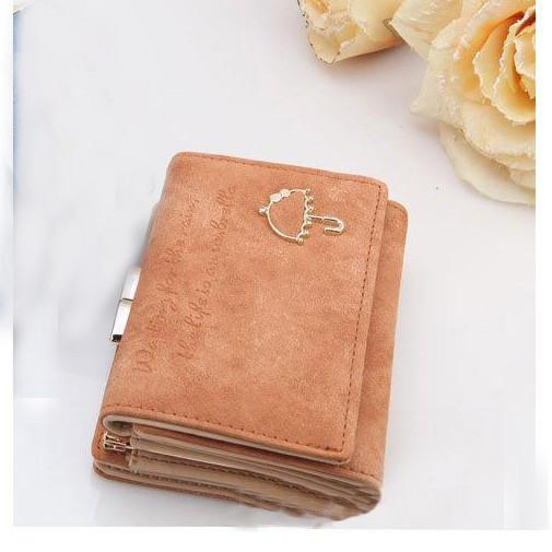 "Best Leather Women Card Wallet With Wording ""Waiting for the rain, the life is an Umbrella"" - QualityGrab"