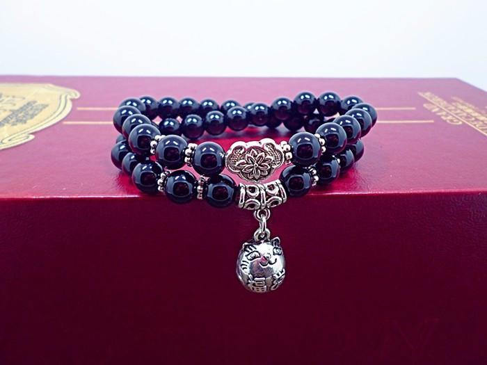 Japan Lucky Cat Natural Stone Bracelet.  Free Shipping! - QualityGrab
