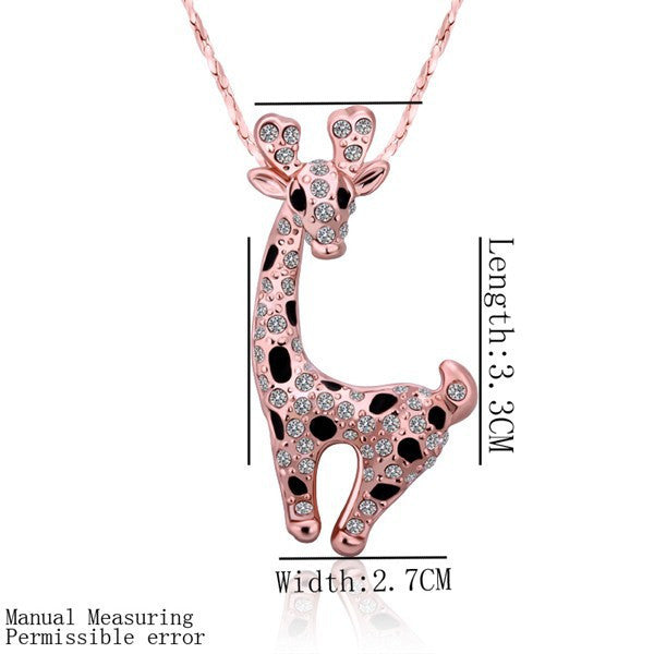 Hot Product: 18K Rose Gold Giraffe Necklace. FREE SHIPPING! - QualityGrab