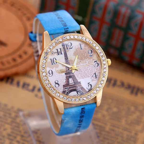 Eiffel Tower Leather Watch Women. FREE SHIPPING WORLDWIDE! - QualityGrab