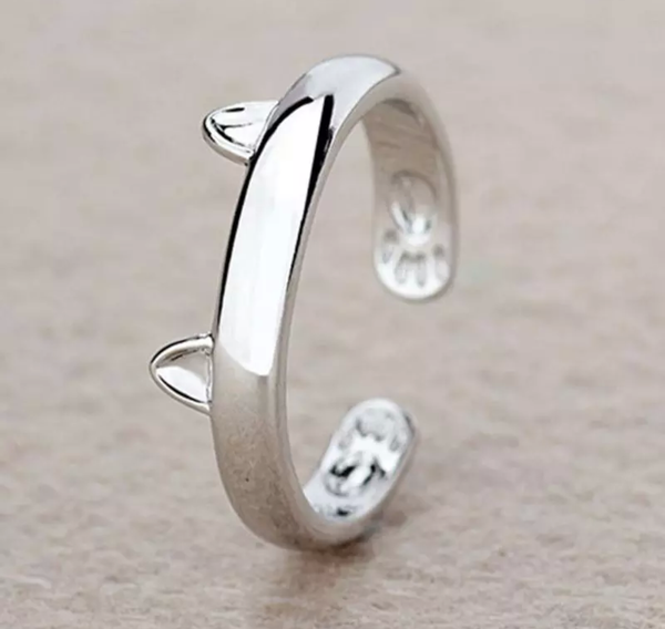 FREE Popular Silver Plated Cat Ear Ring. Just Pay for Shipping. - QualityGrab