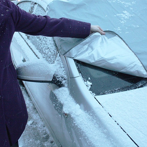 SMART WINDSHIELD COVER- REMOVE SNOW IN SECONDS!