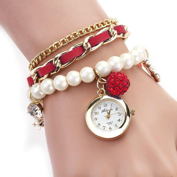 Pearl Anchor Bracelet Watch. FREE WORLDWIDE SHIPPING! - QualityGrab