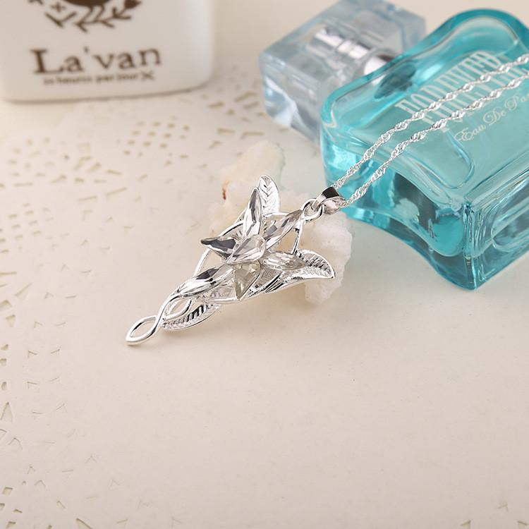 Lord of the Rings Elf Princess Silver Necklace. FREE WORLDWIDE SHIPPING! - QualityGrab