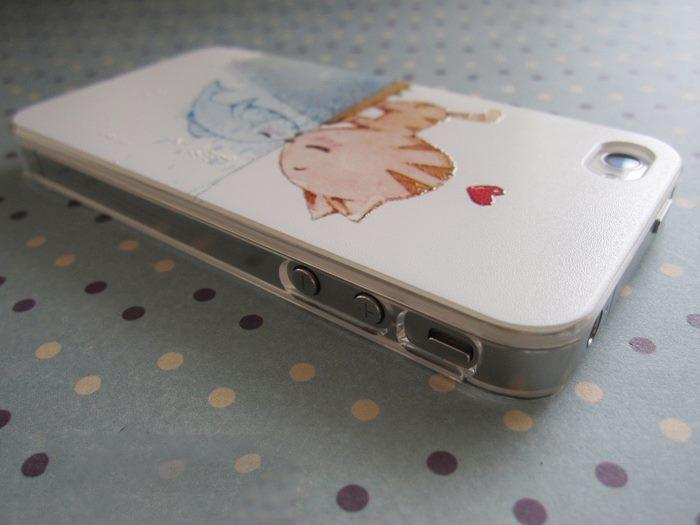 Kitten Kissing Fish Iphone Case ! FREE SHIPPING