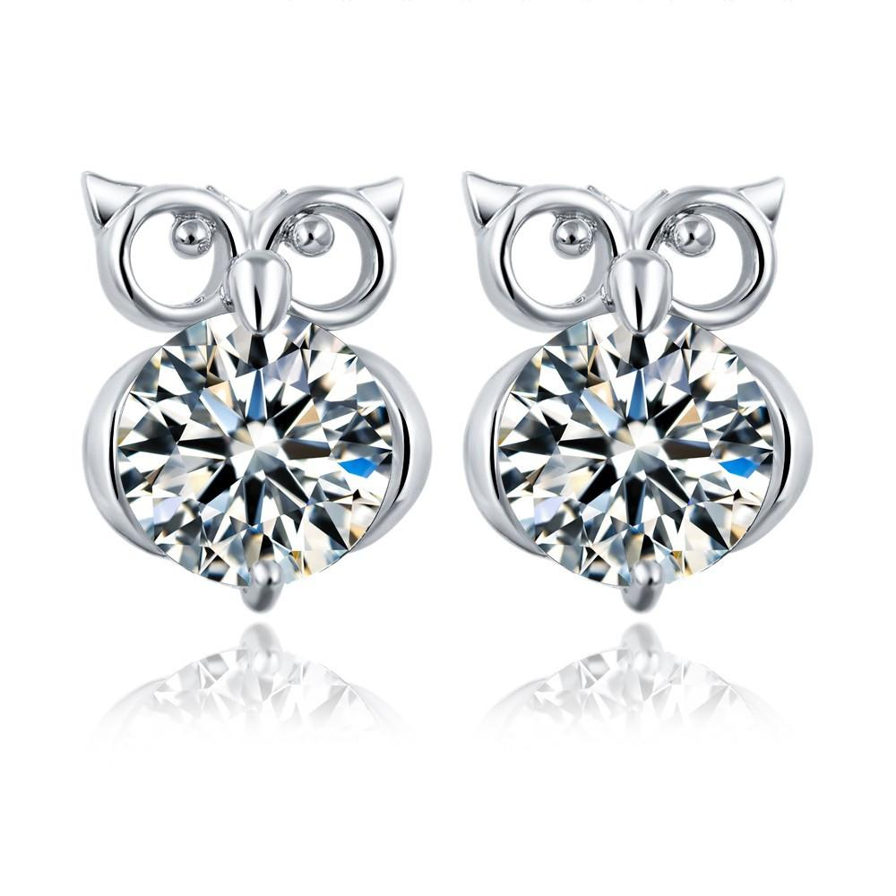 Gold & Silver Plated Owl Earrings. FREE SHIPPING - QualityGrab