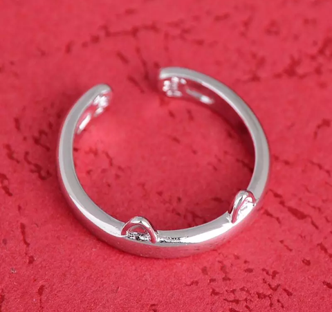 FREE Popular Silver Plated Cat Ear Ring. Just Pay for Shipping.