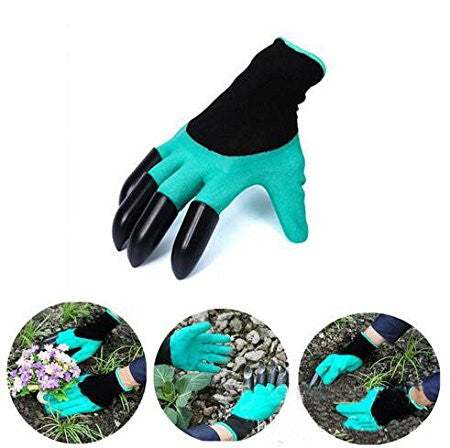 GARDEN GLOVES WITH CLAWS! EASY DIGGING & PLANTING