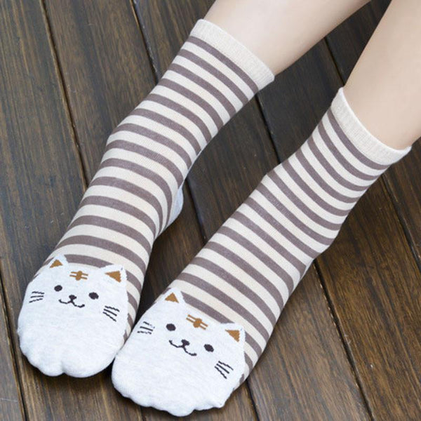 New Arrival 3D Women Cat Cotton Socks