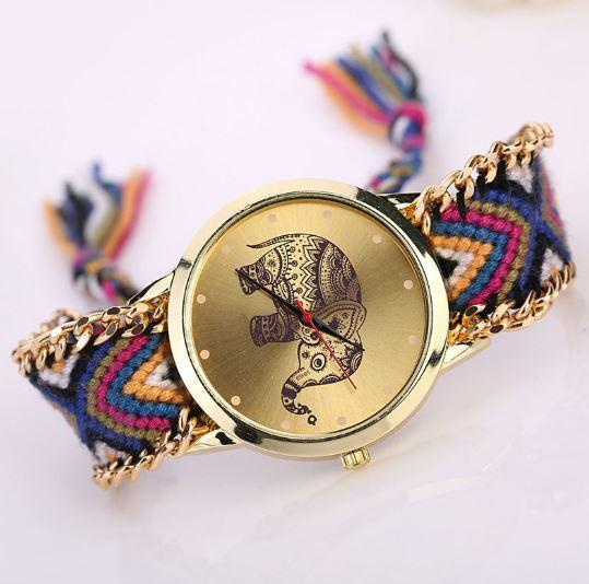 New 2016 Ladies Elephant Pattern Weaved Rope Watch. FREE SHIPPING - QualityGrab