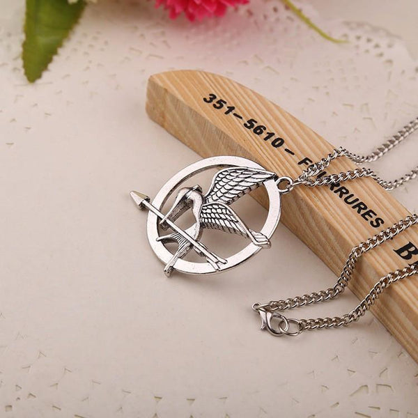 The Hunger Games Movie MOCKINGJAY Necklace. FREE WORLDWIDE SHIPPING!