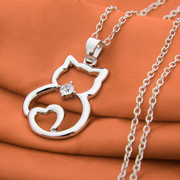 Cute Cat Pendant Necklace - QualityGrab