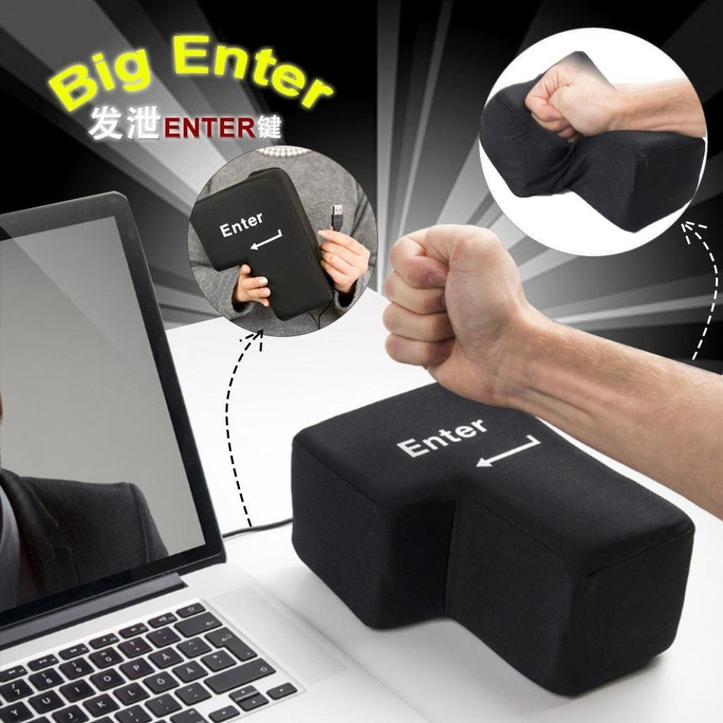 "SUPERSIZED STRESS RELIEF ""ENTER KEY"" PILLOW"