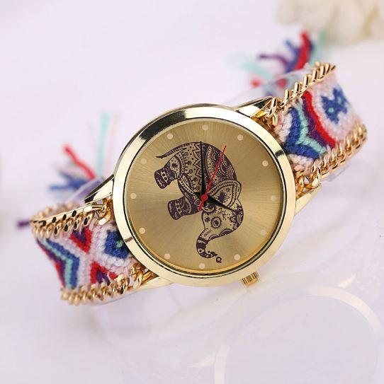 New 2016 Ladies Elephant Pattern Weaved Rope Watch. FREE SHIPPING
