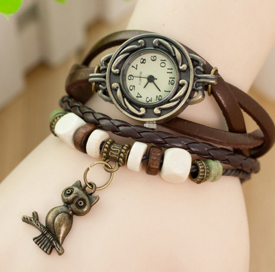 New Arrival Owl Multilayer Leather Writstwatch . FREE WORLDWIDE SHIPPING!