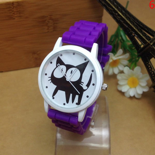 Fashion Cat Cartoon Silicone Watch. FREE WORLDWIDE SHIPPING! - QualityGrab