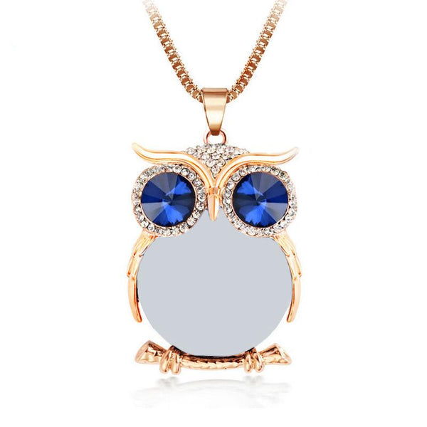 JUST RELEASED! Cute Crystal Owl Necklace.