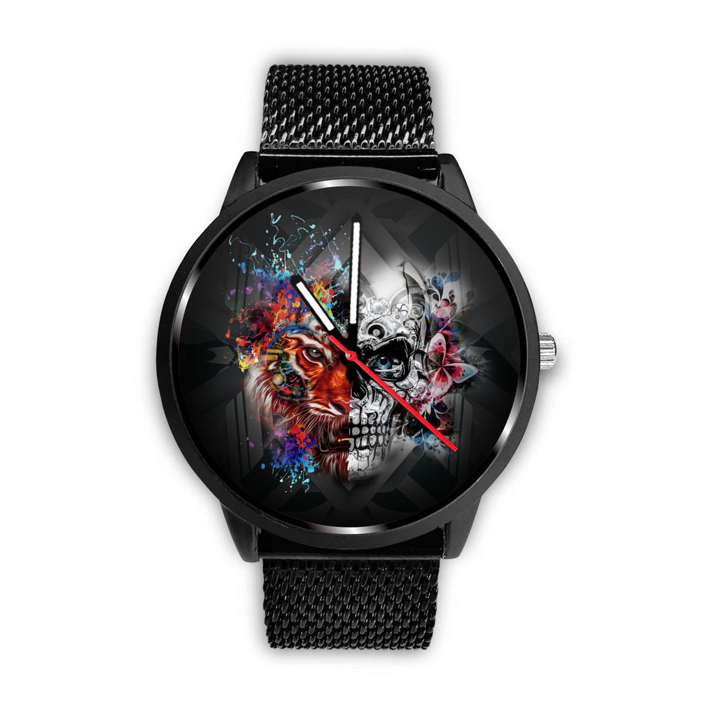 Face Off Stainless Steel Watch