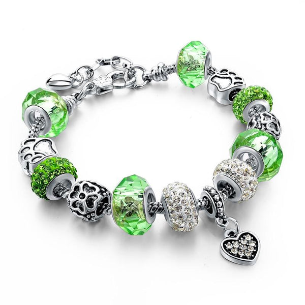 Authentic Tibetan Crystal Charm Bracelet. FREE WORLDWIDE SHIPPING!