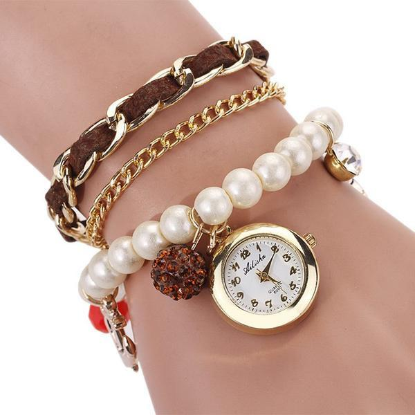 Pearl Anchor Bracelet Watch. FREE WORLDWIDE SHIPPING!