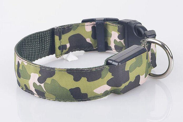 Camouflage flexible length 35-60cm LED Dog Collar - QualityGrab