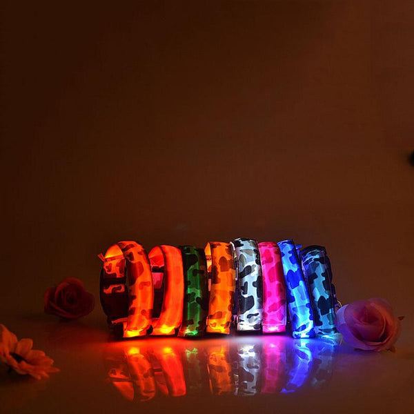 Camouflage flexible length 35-60cm LED Dog Collar