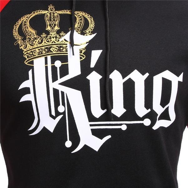 Red- Royal King & Queen Hoodies