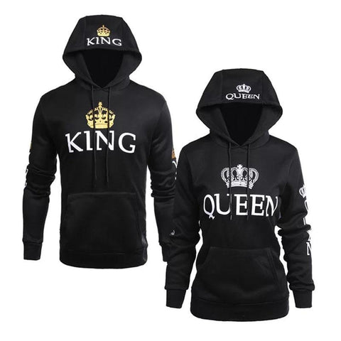 Black- Royal King & Queen Hoodies