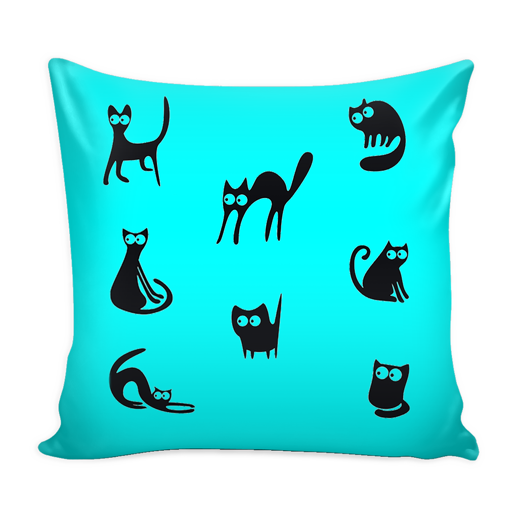 "Naughty Cat Pillow Cover 16"". FREE SHIPPING - QualityGrab"