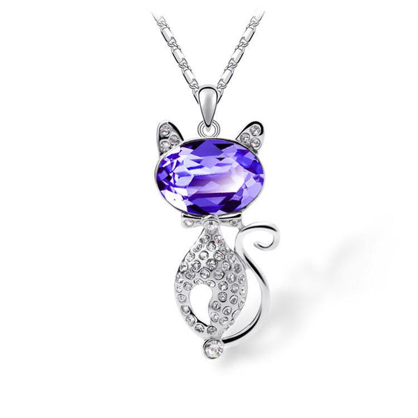 New 2016 Fashion Cat Pendant Necklace