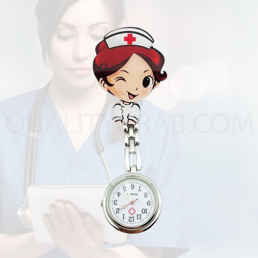 Cutie Girl Nurse Clip watches