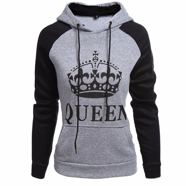 Grey- Royal King & Queen Hoodies