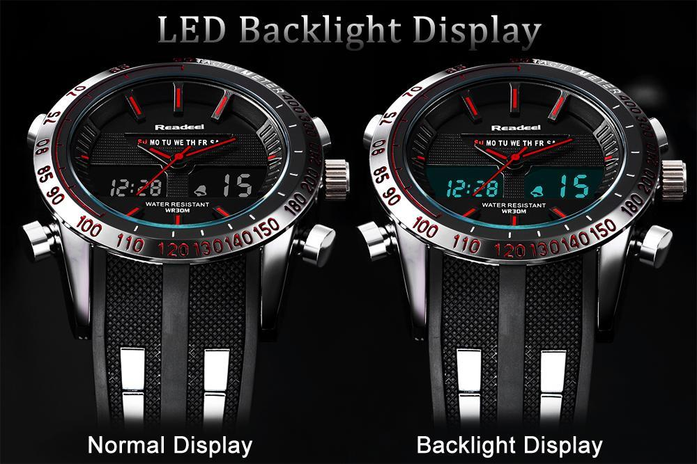 Waterproof LED Digital Quartz Military Mens Watch [SPECIAL $6 OFF]