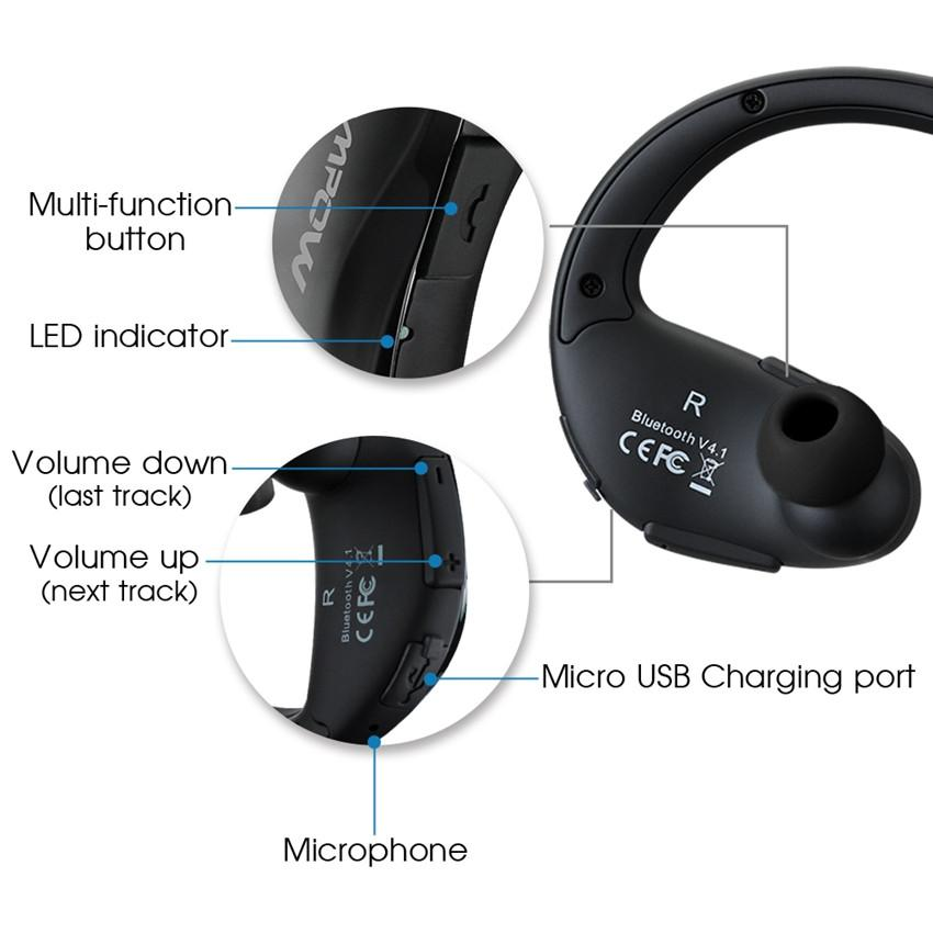 MPOW Cheetah Sport Bluetooth Headphones -Great For Running/Gym