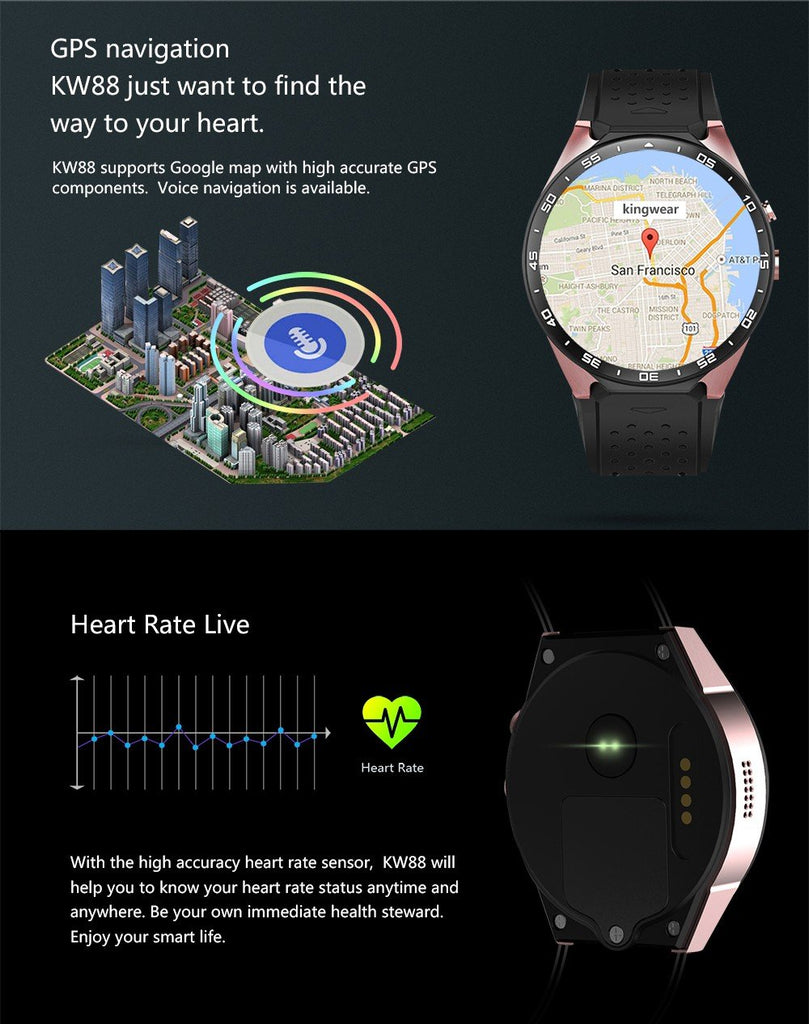 Luxury Smartwatch Compatible Andorid/IOS.