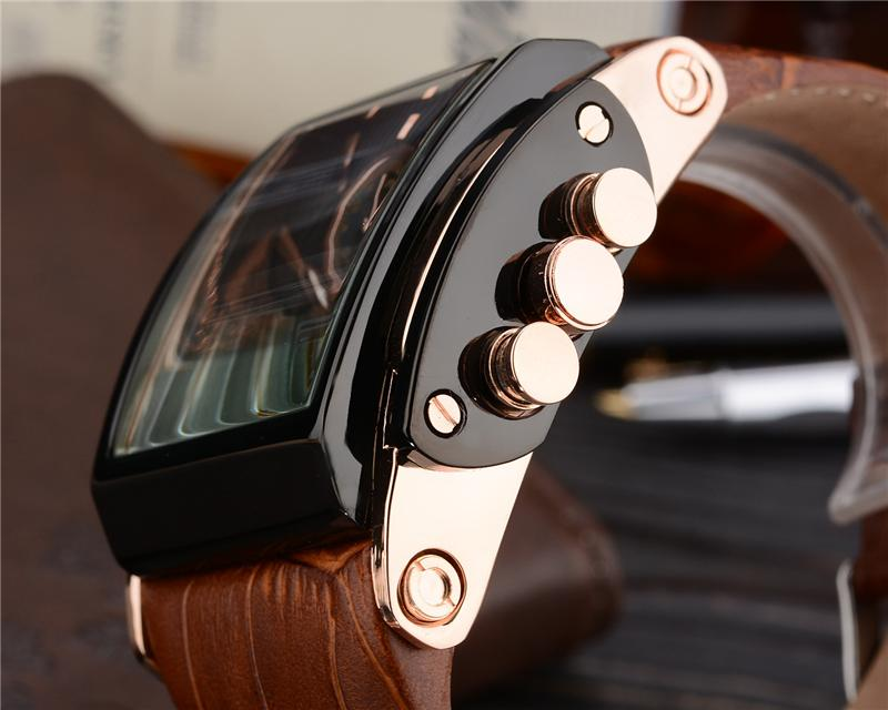 Genuine Leather Military Watch