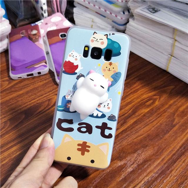 KAWAII SQUISHY CAT SAMSUNG COVER.