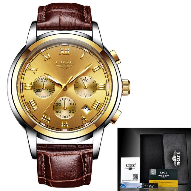 Business Luxury Leather Chrono Watch