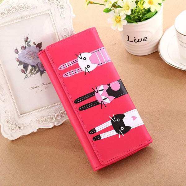 Women Cat Pattern Wallet
