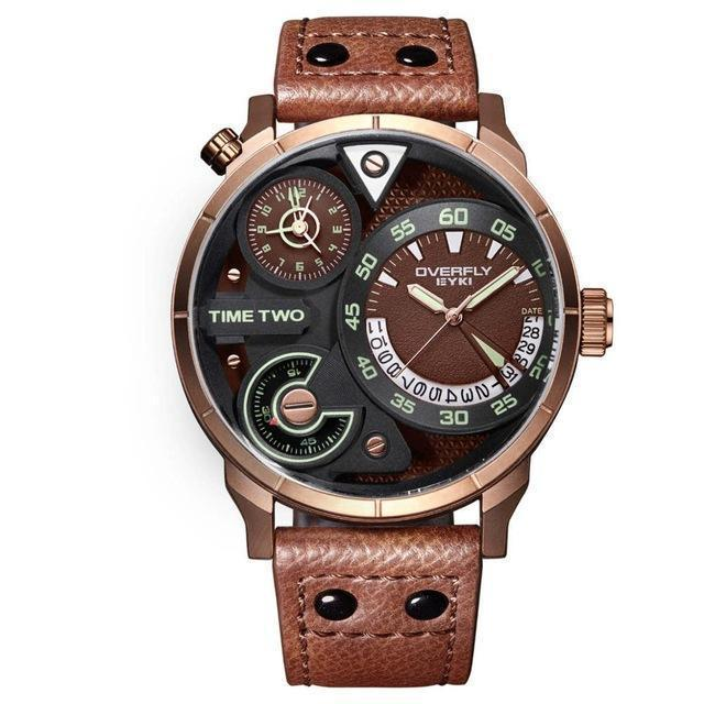 Classic Leather Strap Waterproof Watch