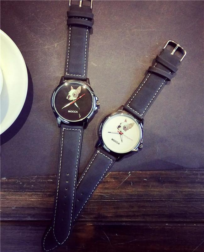 Fashion Cute MOCCA Dog Leather Watch. Free Shipping