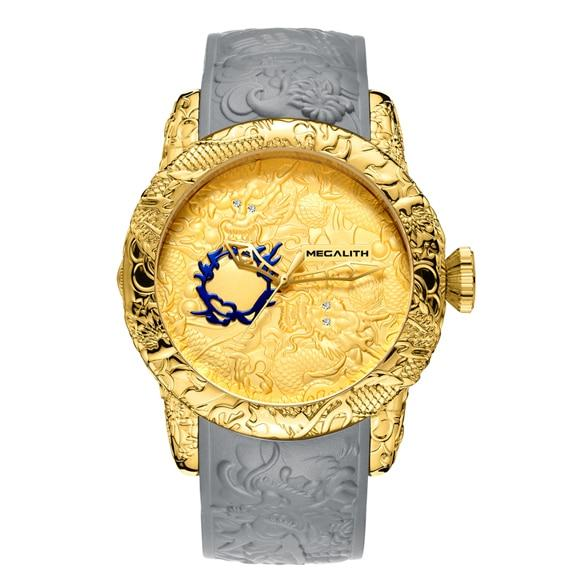 Classic Gold Dragon Waterproof Men Watch