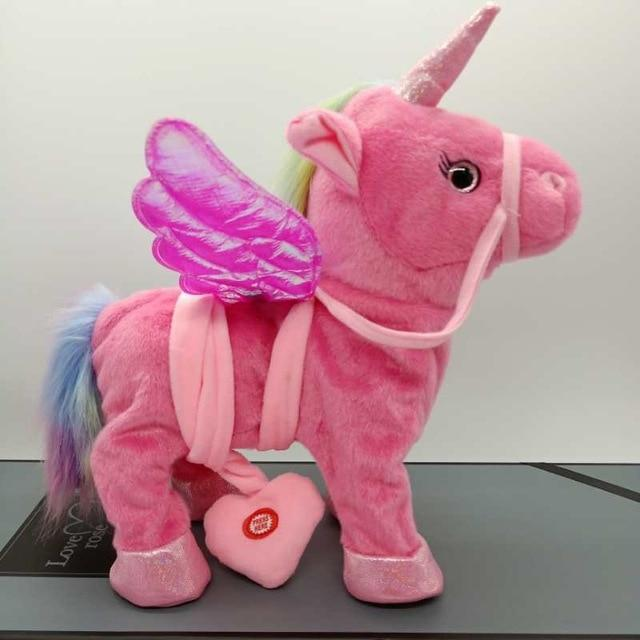 2018 Hot Selling Electric Walking Unicorn Plush Toy