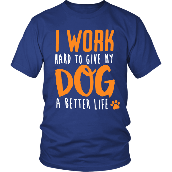 I WORK HARD TEES